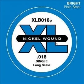 D'Addario XLB018 Plain Steel XL Bass Guitar Single String .018 Long Scale