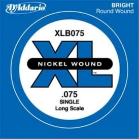 D'Addario XLB075 Nickel Wound XL Bass Single String .075 Long Scale