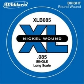 D'Addario XLB085 Nickel Wound XL Bass Single String .085 Long Scale