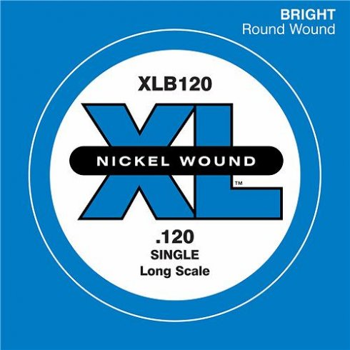 D'Addario XLB120 Nickel Wound XL Bass Single String .120 Long Scale