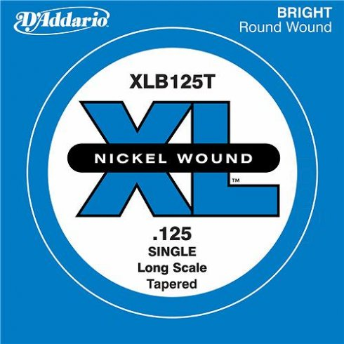 D'Addario XLB125T Nickel Wound XL Bass Single String .125 Long Scale Tapered