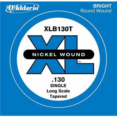 D'Addario XLB130T Nickel Wound XL Bass Single String .130 Long Scale Tapered