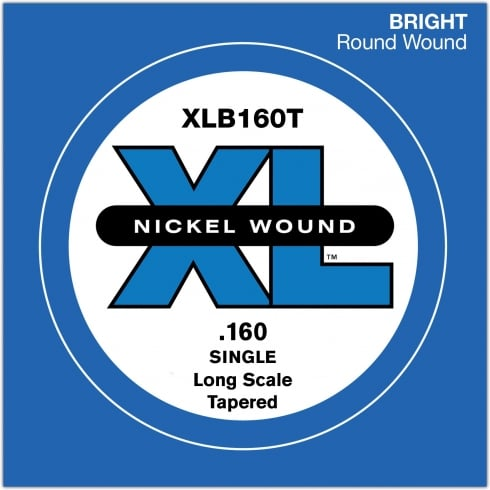 XLB160T Nickel Wound XL Bass Single String .160 Long Scale Tapered