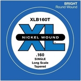 D'Addario XLB160T Nickel Wound XL Bass Single String .160 Long Scale Tapered