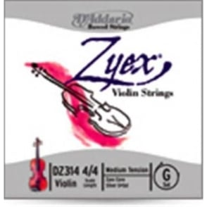 D'Addario Zyrex Violin Aluminium D Medium 4/4