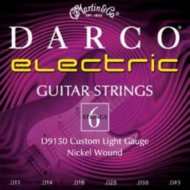 Darco 9150 Nickel Wound Electric Guitar Strings 11-49 Regular Gauge