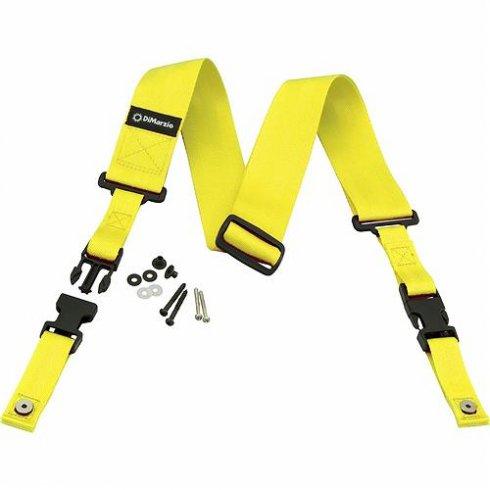 DiMarzio ClipLock Quick Release Strap - Neon Yellow