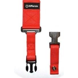 DiMarzio ClipLock Quick Release Strap Red