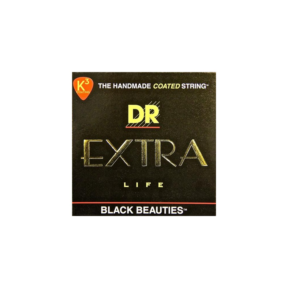 dr black beauties coated electric guitar strings 10 46 regular strings from strings direct uk. Black Bedroom Furniture Sets. Home Design Ideas