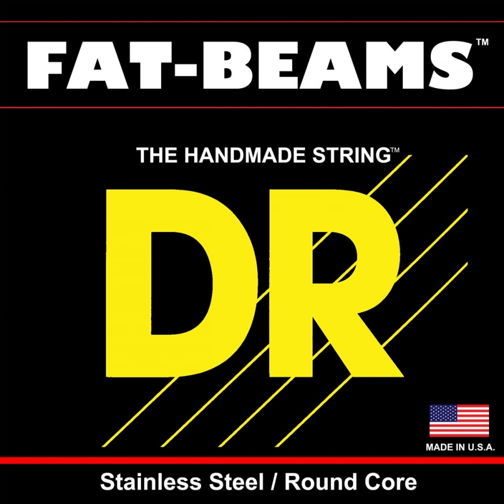 DR Fat Beam 40-100 4-String Stainless Steel, Round Core Bass Strings