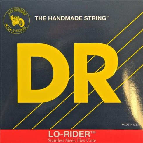 DR Handmade 4-String Lo-Rider Stainless Steel 45-100 Long Scale Bass Strings Medium Light