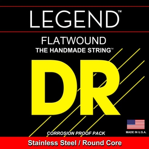 DR Handmade 5-String Legend Stainless Steel Flatwound 45-125 Long Scale Bass Guitar Strings