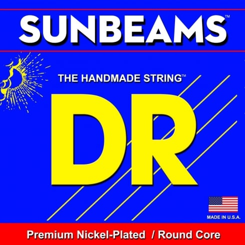 DR Handmade 6-String SunBeam Nickel Wound 30-130 Long Scale Bass Guitar Strings NMR6-30