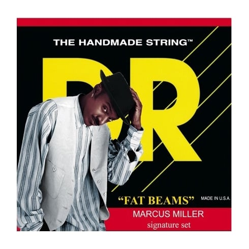 DR Handmade DR 45-105 Fat Beam Marcus Miller Signature Short Scale, Stainless Steel, Round Core Bass Strings