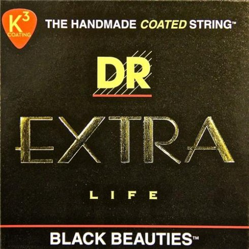 DR Handmade DR Black Beauties Coated Electric Guitar Strings 10-46 Regular