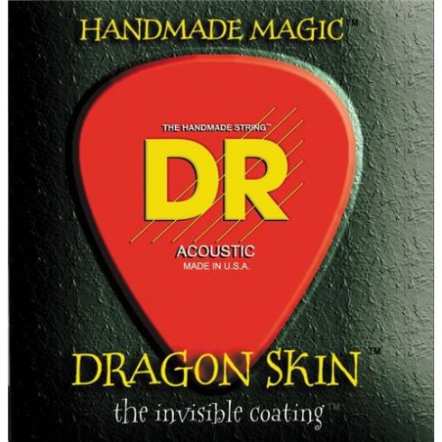 DR Handmade DR Dragon Skin K3-Coated Acoustic Guitar Strings 12-56
