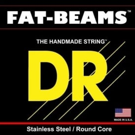 DR Fat Beam 45-125 5-String Stainless Steel, Round Core Bass Strings