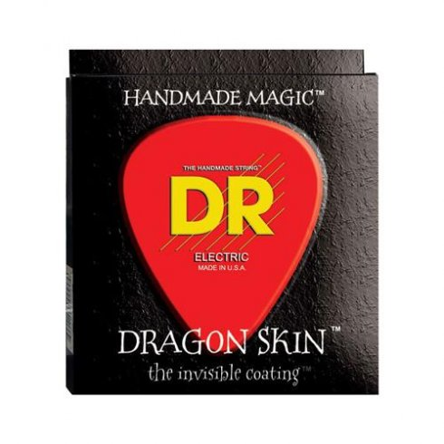 DR Handmade Dragon Skin Coated Electric Guitar Strings 11-50 Heavy