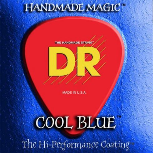 DR Handmade K3 Coated Cool Blue Bass Guitar Strings 40-100