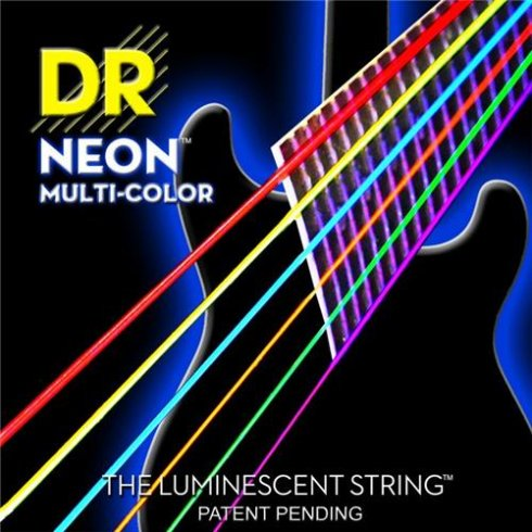 DR Handmade K3 Neon HiDef Multi-Colour 10-46 Electric Guitar Strings