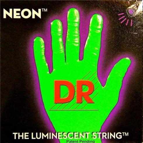 DR Handmade Neon HiDef Green Electric Guitar Strings 11-50