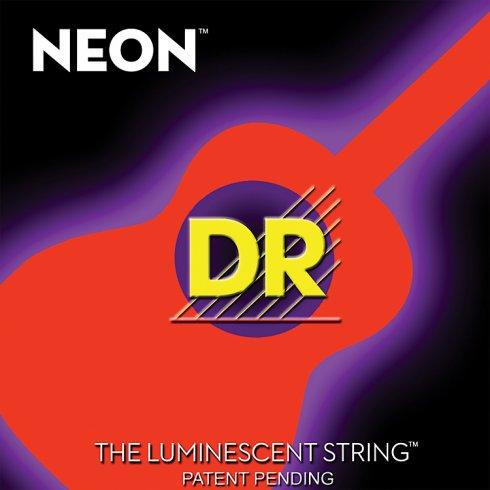 DR Handmade Neon HiDef Orange Acoustic Guitar Strings 11-50