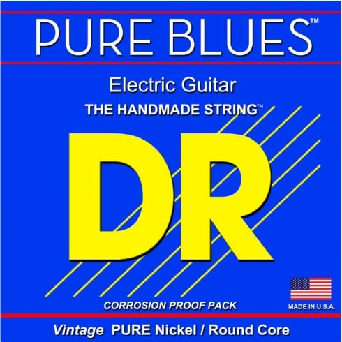 DR Handmade DR PURE BLUES™ Pure Nickel Electric Guitar Strings, 11-50 Heavy