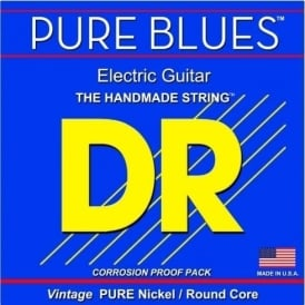 DR PURE BLUES™ Pure Nickel Electric Guitar Strings, 11-50 Heavy