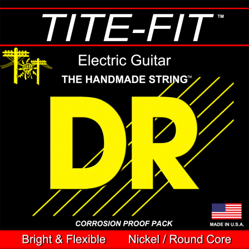 DR Handmade DR Strings Tite-Fit MH10, Nickel Plated, 10-50 Medium-Heavy