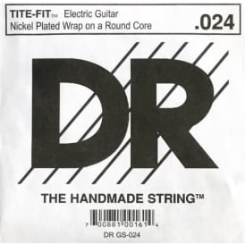 DR Tite-Fit Nickel Plated .024 Electric Guitar Single String