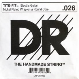 DR Tite-Fit Nickel Plated .026 Electric Guitar Single String
