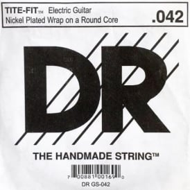 DR Tite-Fit Nickel Plated .042 Electric Guitar Single String