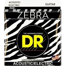 DR Zebra™ Acoustic-Electric Guitar Strings, 10-48, Extra Light
