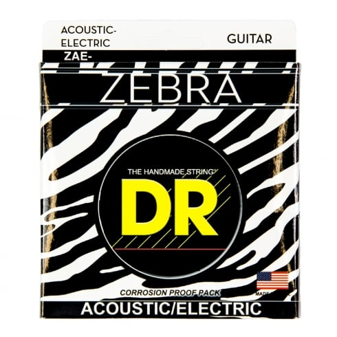 DR Handmade DR Zebra™ Acoustic-Electric Guitar Strings, 11-50, Light