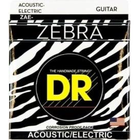 DR Zebra™ Acoustic-Electric Guitar Strings, 11-50, Light