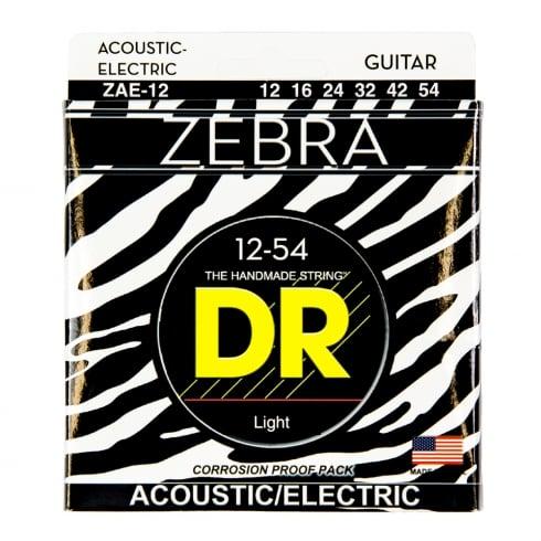 DR Handmade DR Zebra™ Acoustic-Electric Guitar Strings, 12-54, Light