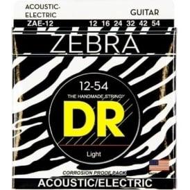 DR Zebra™ Acoustic-Electric Guitar Strings, 12-54, Light
