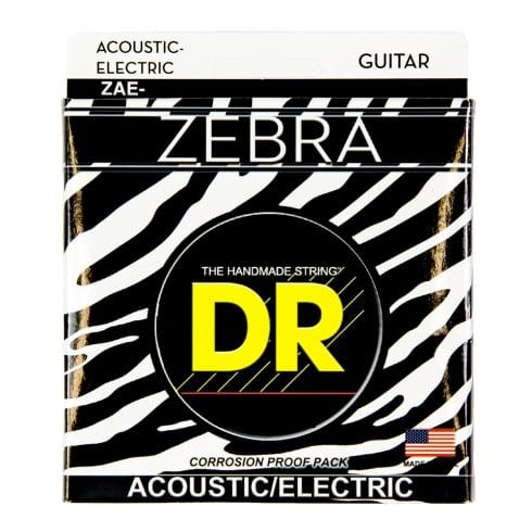 DR Handmade DR Zebra™ Acoustic-Electric Guitar Strings, 9-42, Super Light