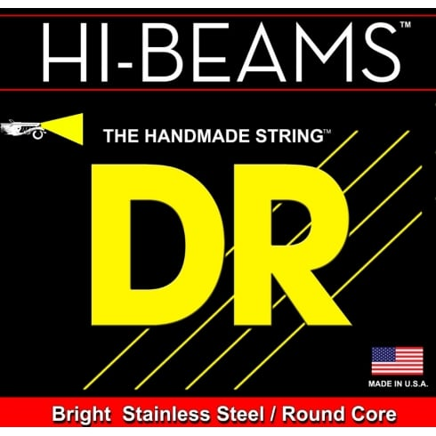DR Handmade Hi-Beam 5-String Stainless Steel Bass Guitar Strings 45-125 Extra Long Scale