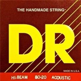 DR Handmade Hi-Beam 80/20 Bronze Acoustic Strings 13-56