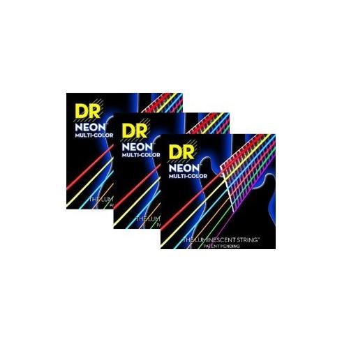 DR Handmade K3 Neon HiDef Multi-Colour 11-50 Electric Guitar Strings Single Set