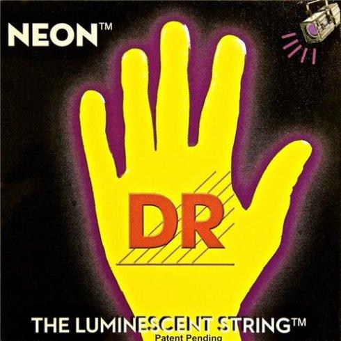 DR Handmade Neon HiDef Yellow Electric Guitar Strings 09-42