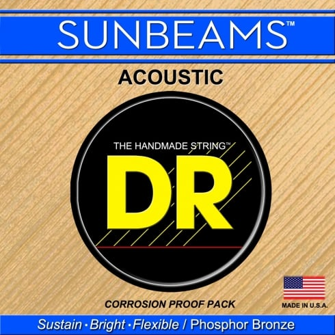 DR Handmade Sunbeam Phosphor Bronze Acoustic Guitar Strings 13-56