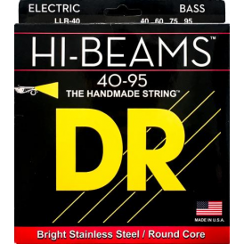 DR HI-BEAM Stainless Steel Bass Strings, 40-95, Long Scale