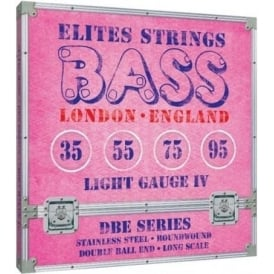 Elites DBE Series 35-95 Stainless Steel Double Ball End Bass Strings