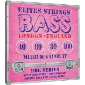 Elites DBE Series 40-100 Stainless Steel Double Ball End Bass Strings