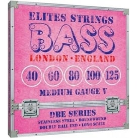 Elites DBE Series 5-String 40-125 Stainless Steel Double Ball End Bass Strings