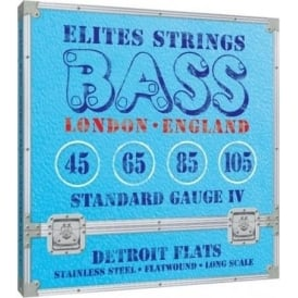 Elites Detroit Flats 45-105 Stainless Steel Flatwound Bass Strings