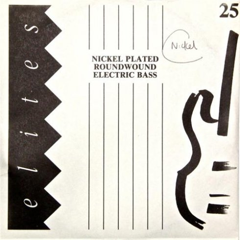 Elites Player Nickel Plated Wound Bass Guitar Single String .025 Long Scale
