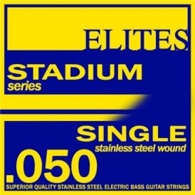 Elites Stadium Stainless Steel Wound Bass Guitar Single String .050 Long Scale